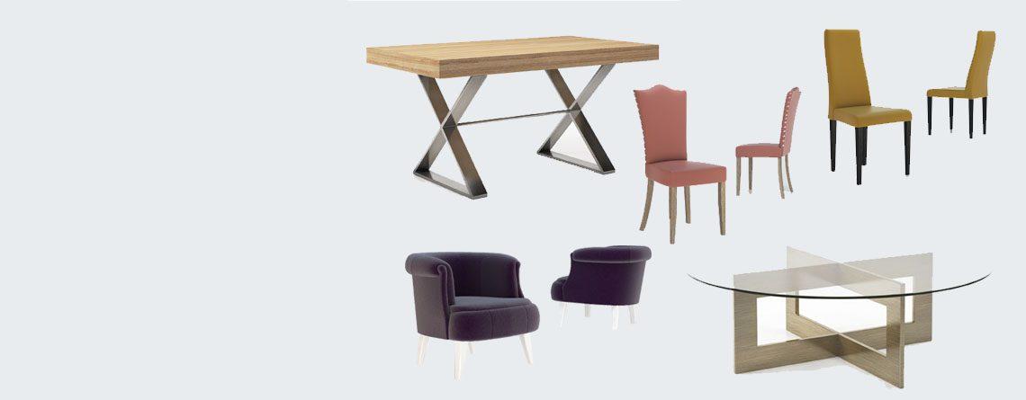 Variedad de muebles
